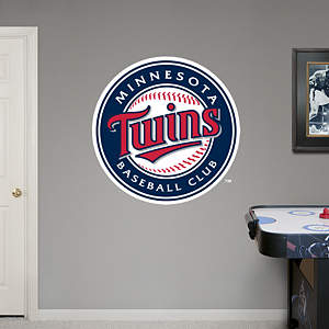 Minnesota Twins Logo Fathead Wall Decal